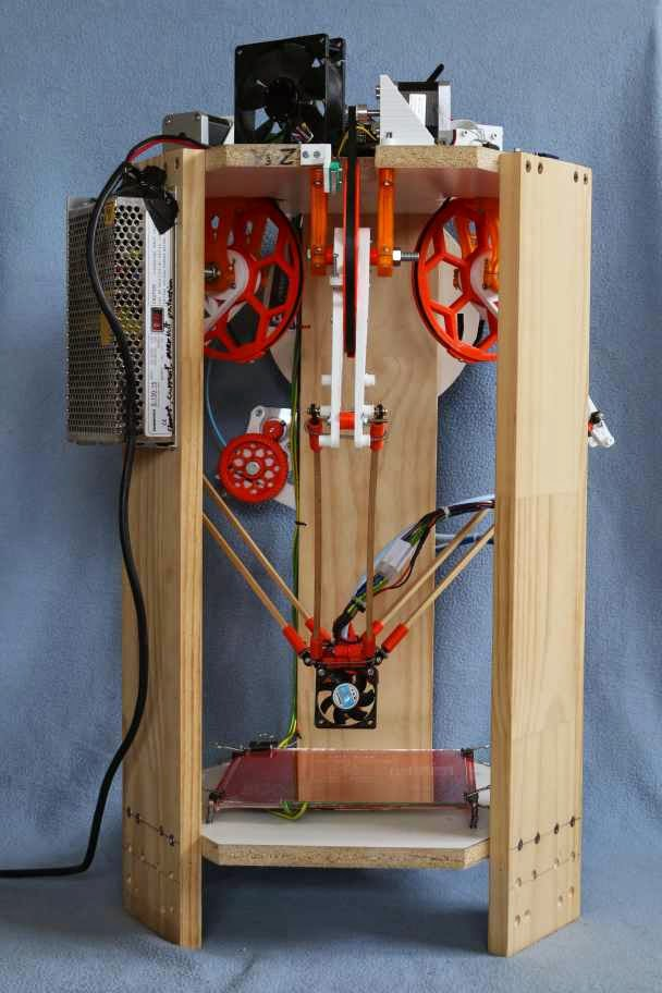 delta 3d printer made with no linear rods or bearings adafruit industries makers hackers. Black Bedroom Furniture Sets. Home Design Ideas