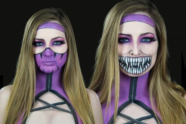 mileena makeup