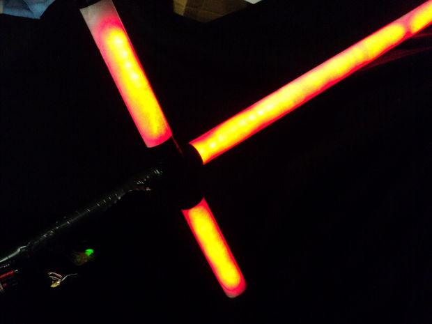 Star wars crossguard neopixel lightsaber tutorial