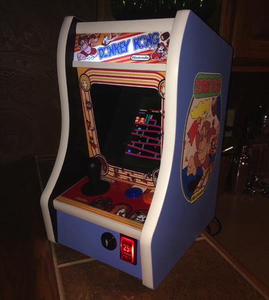 Donkey Kong Bartop Arcade Powered By Rpi Raspberry Pi