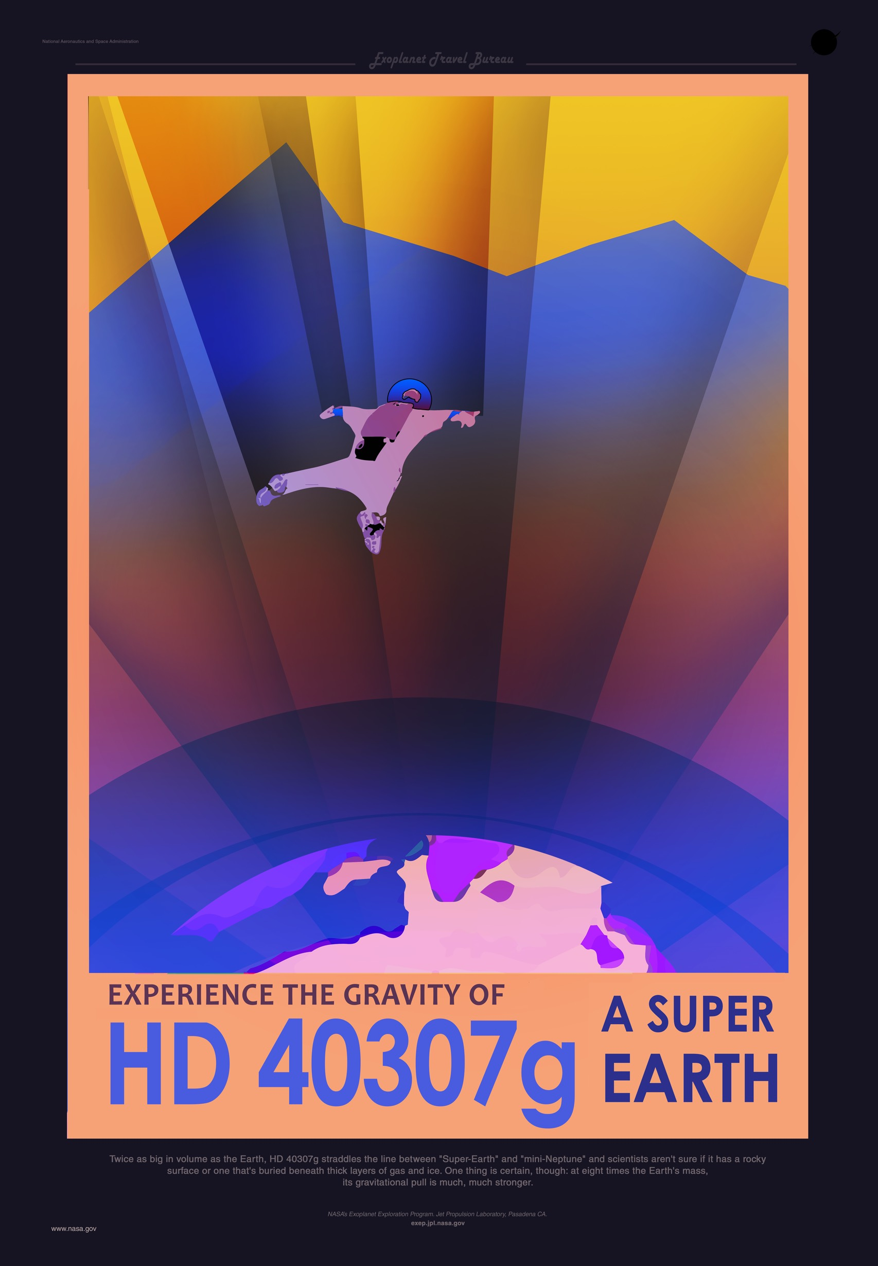 nasa u2019s travel posters promote newly discovered planets