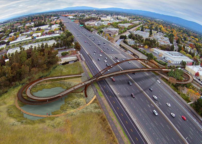 Palo Alto bridge by 64North dezeen 784 0