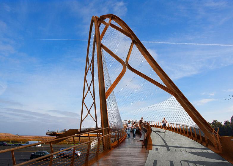 Palo Alto bridge by 64North dezeen 784 3