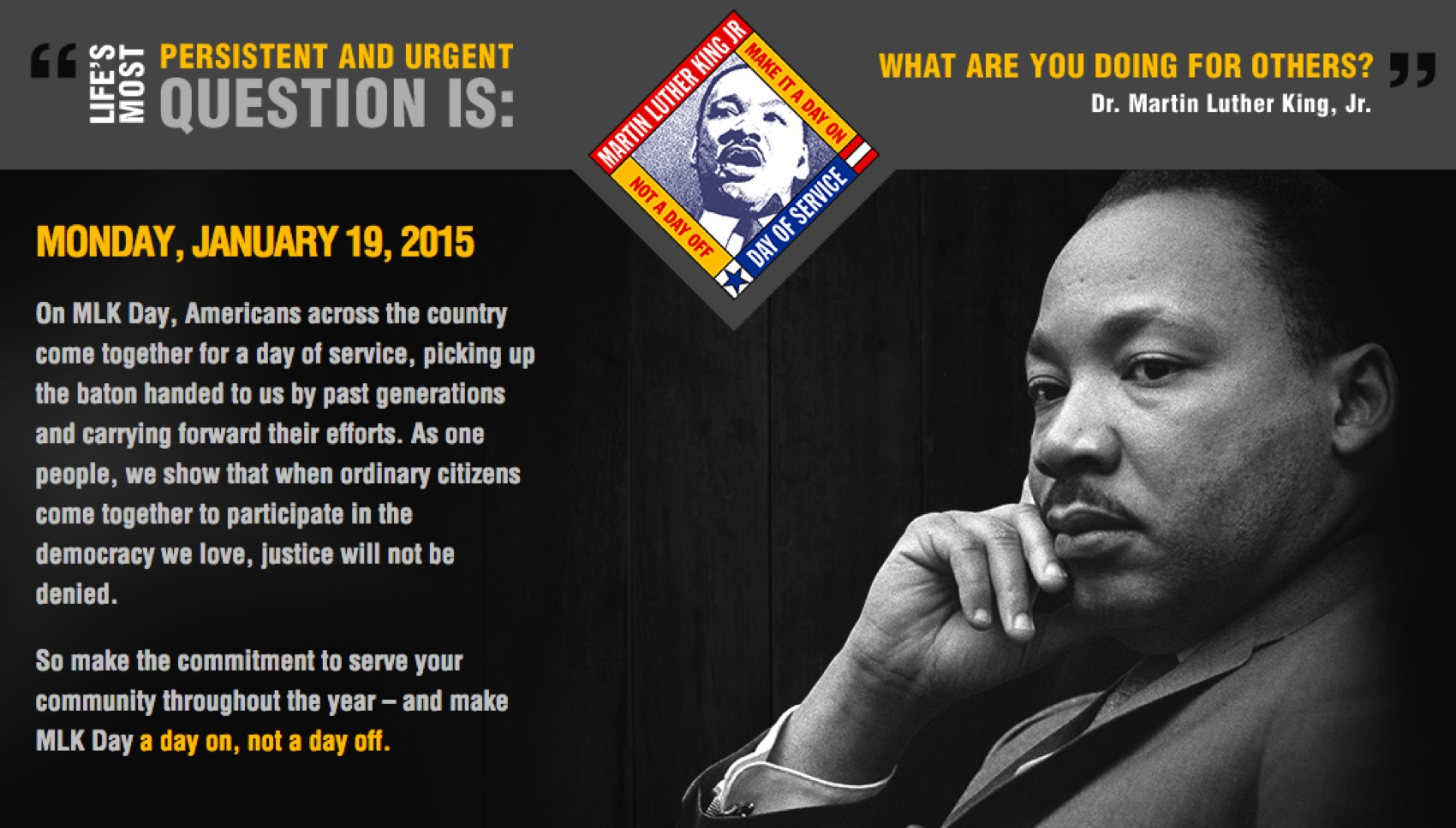 A Day Of Remembrance Martin Luther King Jr Mlkday Mlkday