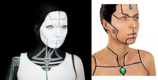 cyborg makeup duo