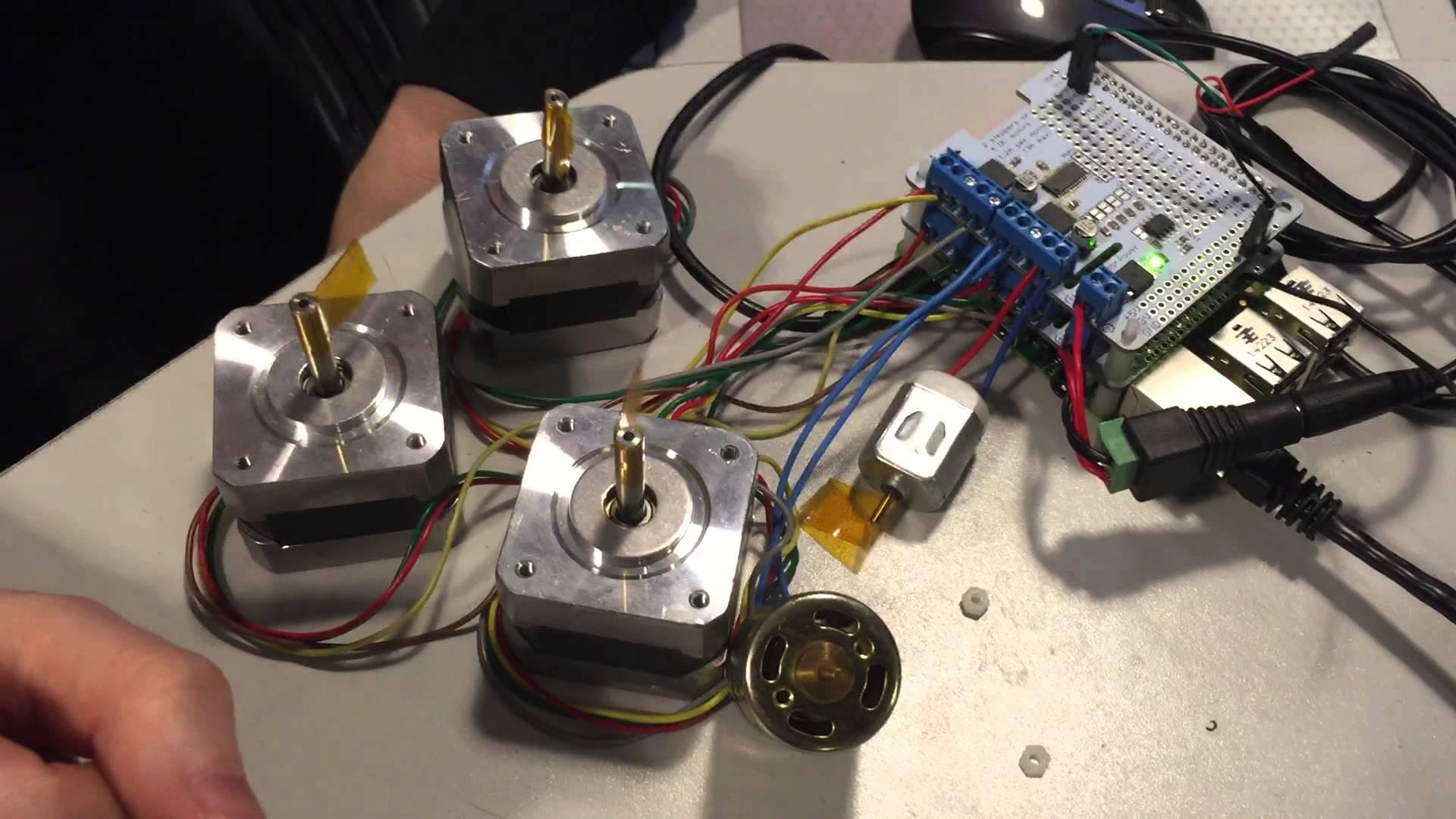 Dc Stepper Motor Hat Testing Video Raspberry Pi
