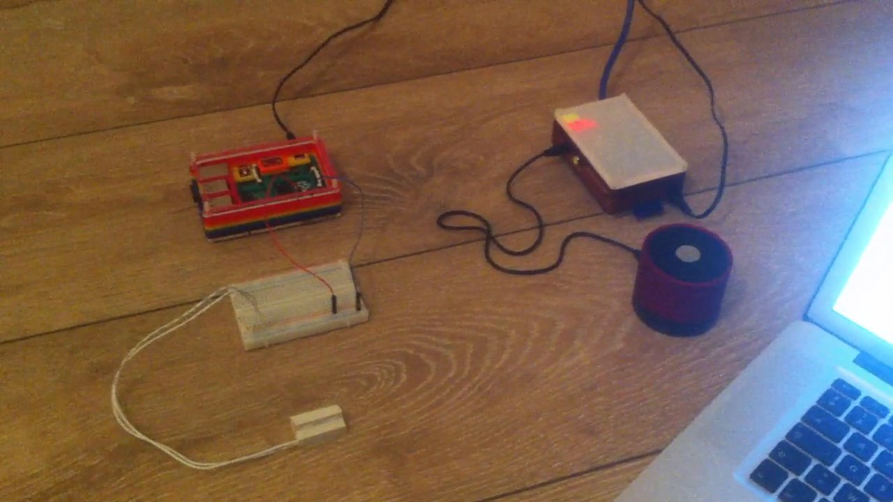 Home surveillance: magnetic door protection with Text-To-Speech #piday #raspberrypi @Raspberry_Pi
