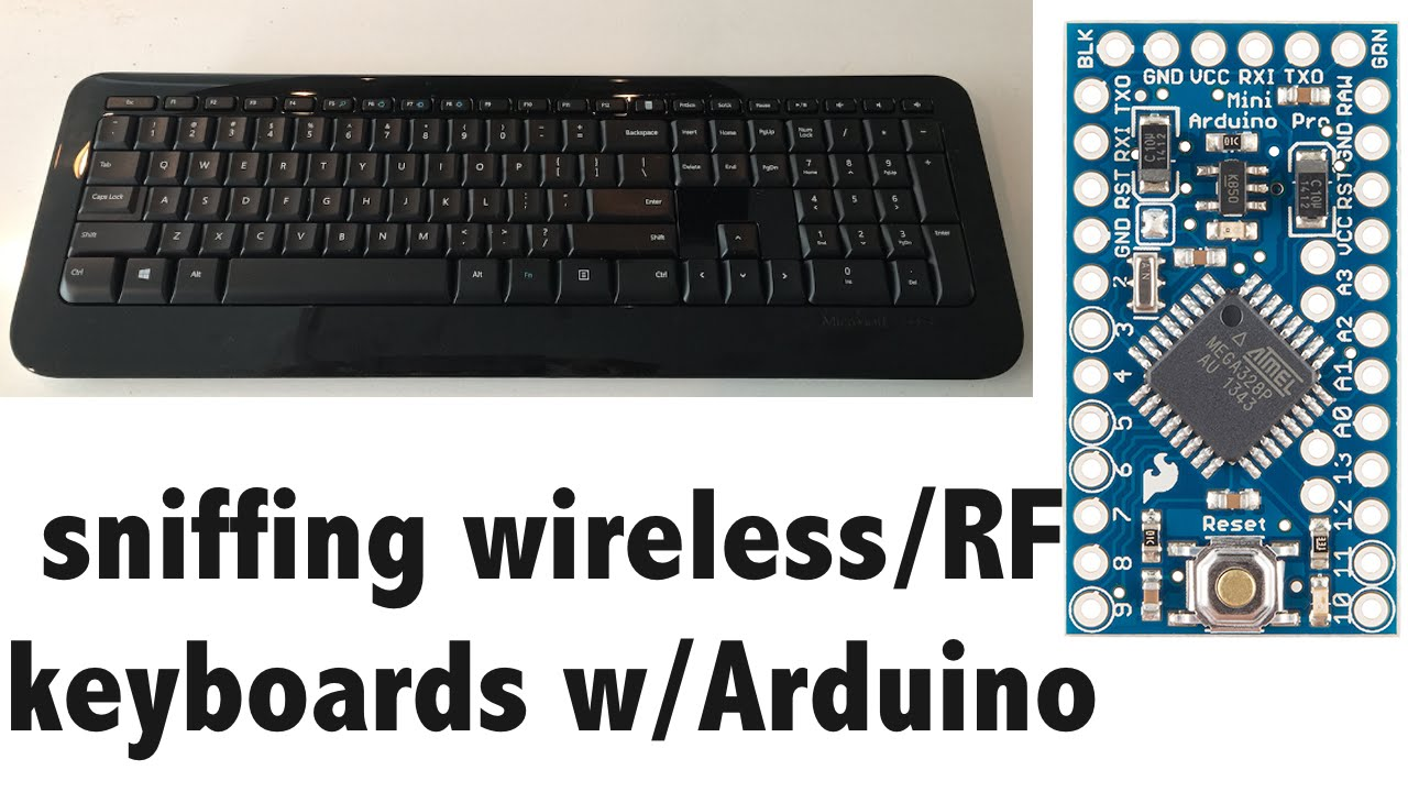 Keysweeper wireless keyboard sniffer using arduino