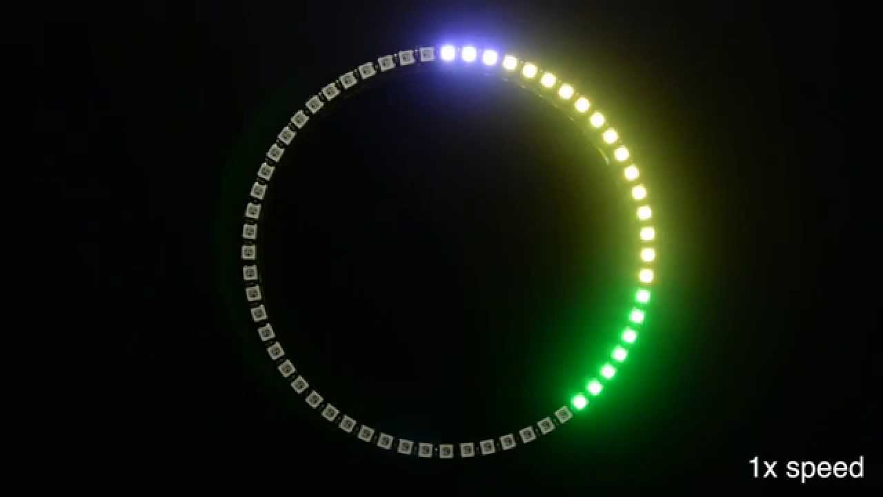 Light Up The Hours Of Your Day With A Neopixel 60 Ring