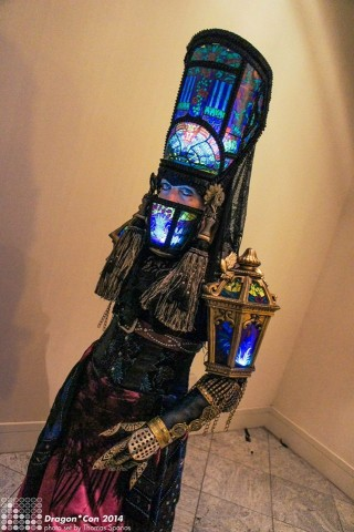 stained glass steampunk costume 1