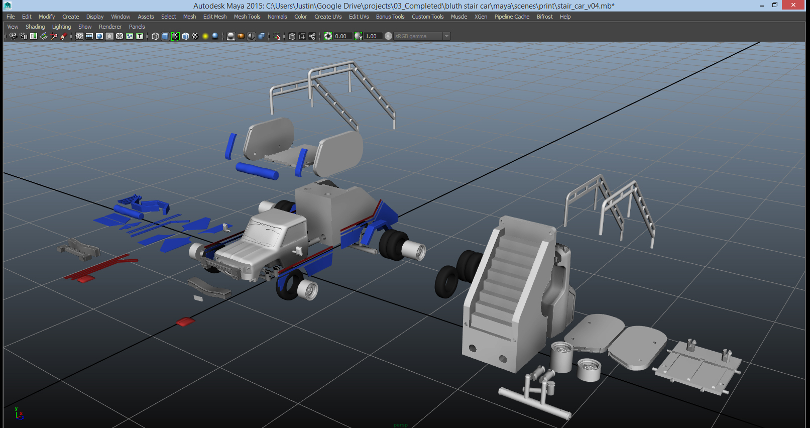 stair_car_maya