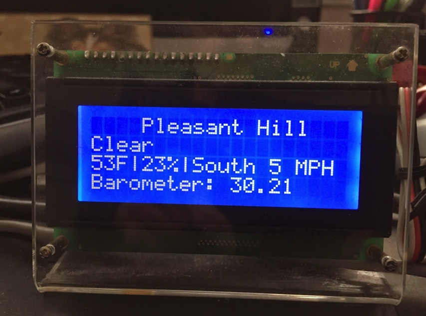 Thisoldgeek ESP8266 Weather Display