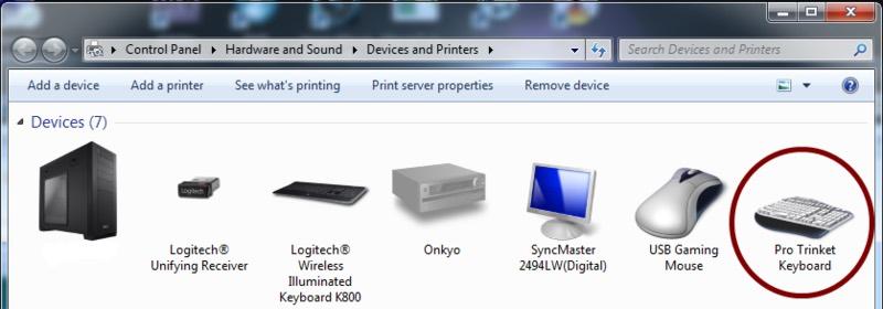 Trinket Pro Trinket Keyboard Control Panel