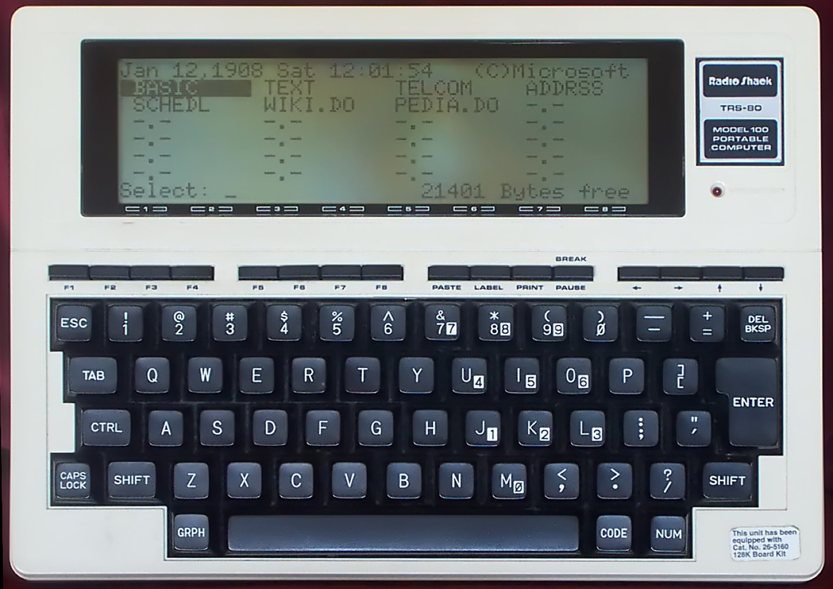 Radio Shack Trs-80 Model 100