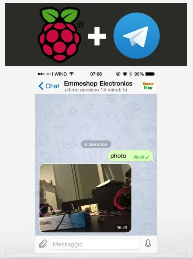 Raspberry remote control with Telegram