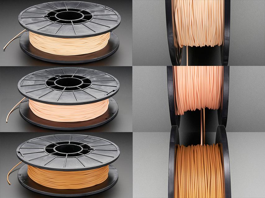 Ninjaflex filament blush almond caramel