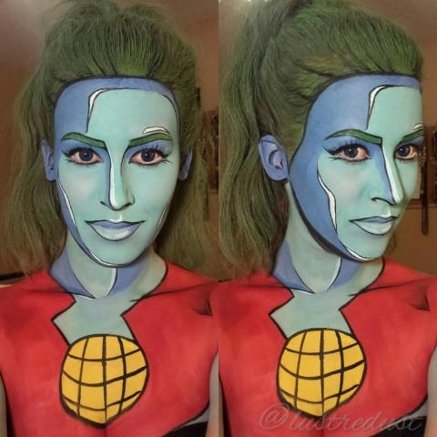 Superhero Makeup Makeup Artist Turns Pe...