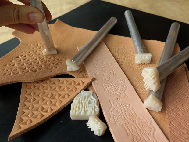 #3dDPrinted leather stamps #3DThursday #3DPrinting ...