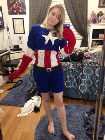 Captain America Knitting Pattern : Knitted Captain America Costume   Adafruit Industries   Makers, hackers, arti...
