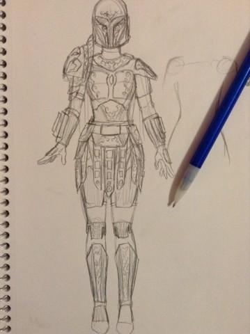 mando armor sketch