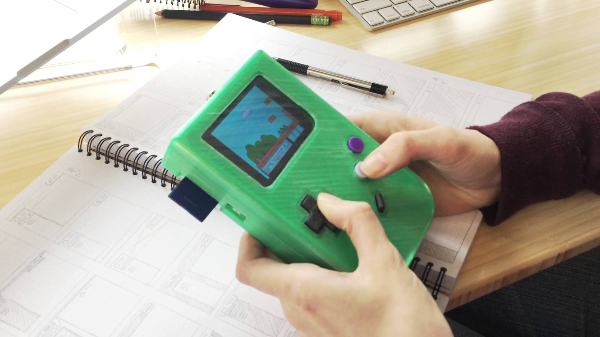 Moby, Inc  builds a 3D printed Raspberry Pi Gameboy Emulator