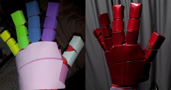 painting foam armor