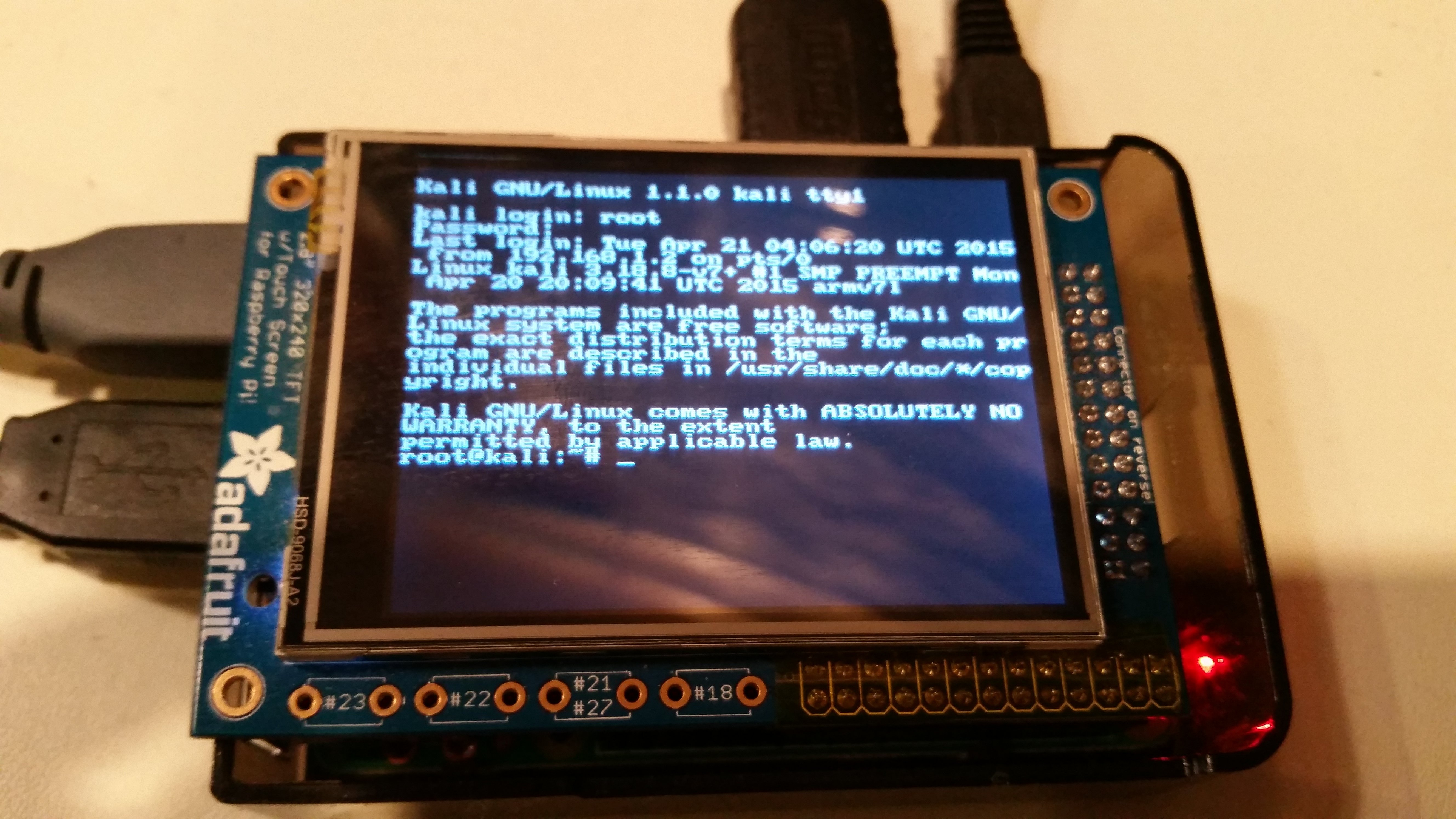 New guide kali linux on the raspberry pi with pitft