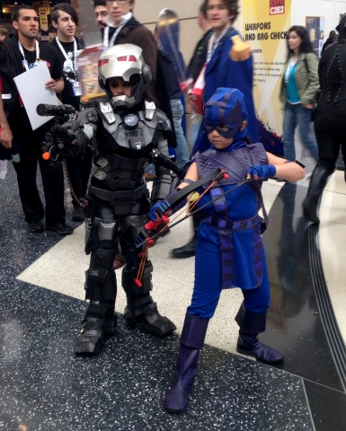 C2E2 Cosplay - War Machine and Hawkeye