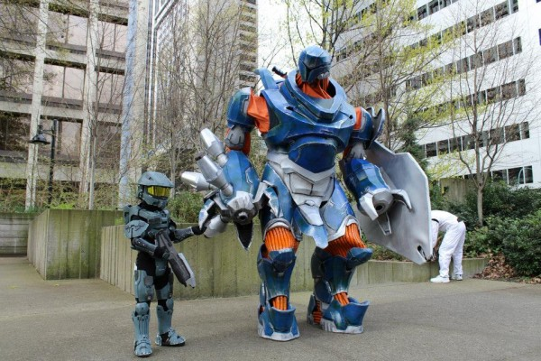 a Massive Halo Hunter Costume