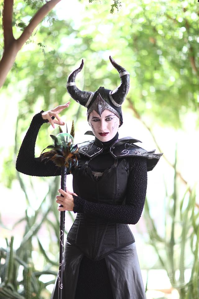 original star wars and maleficent cosplay by courtney