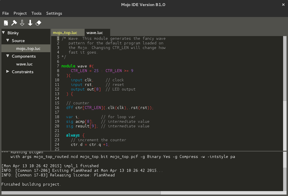 The New Lucid Hardware Description Language and the Mojo IDE