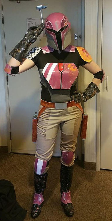 Star Wars Rebels Sabine Wren Helmet And Armor Cast