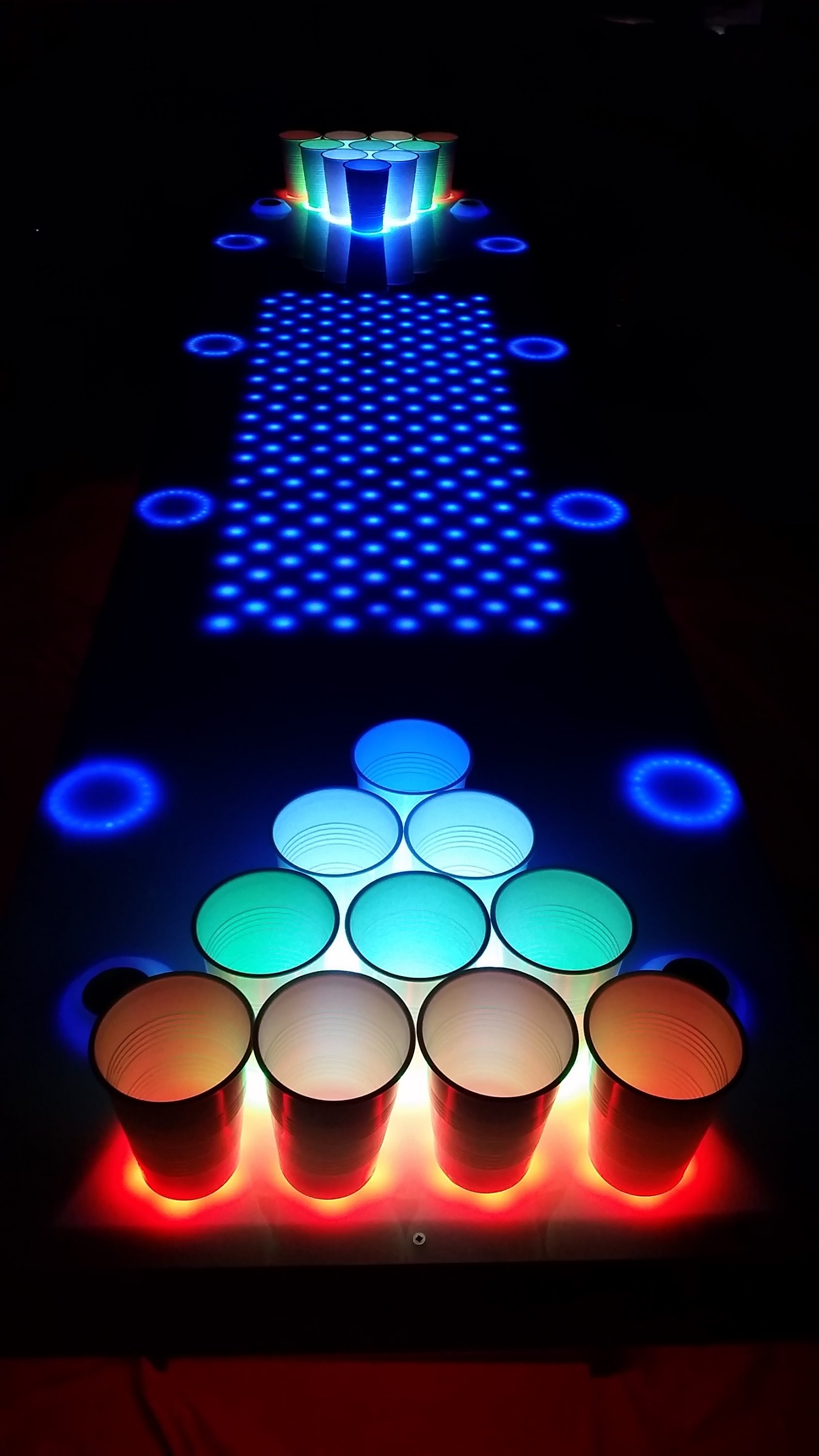 Wicked awesome led beer pong table 2 0 arttuesday - Interactive led beer pong table ...