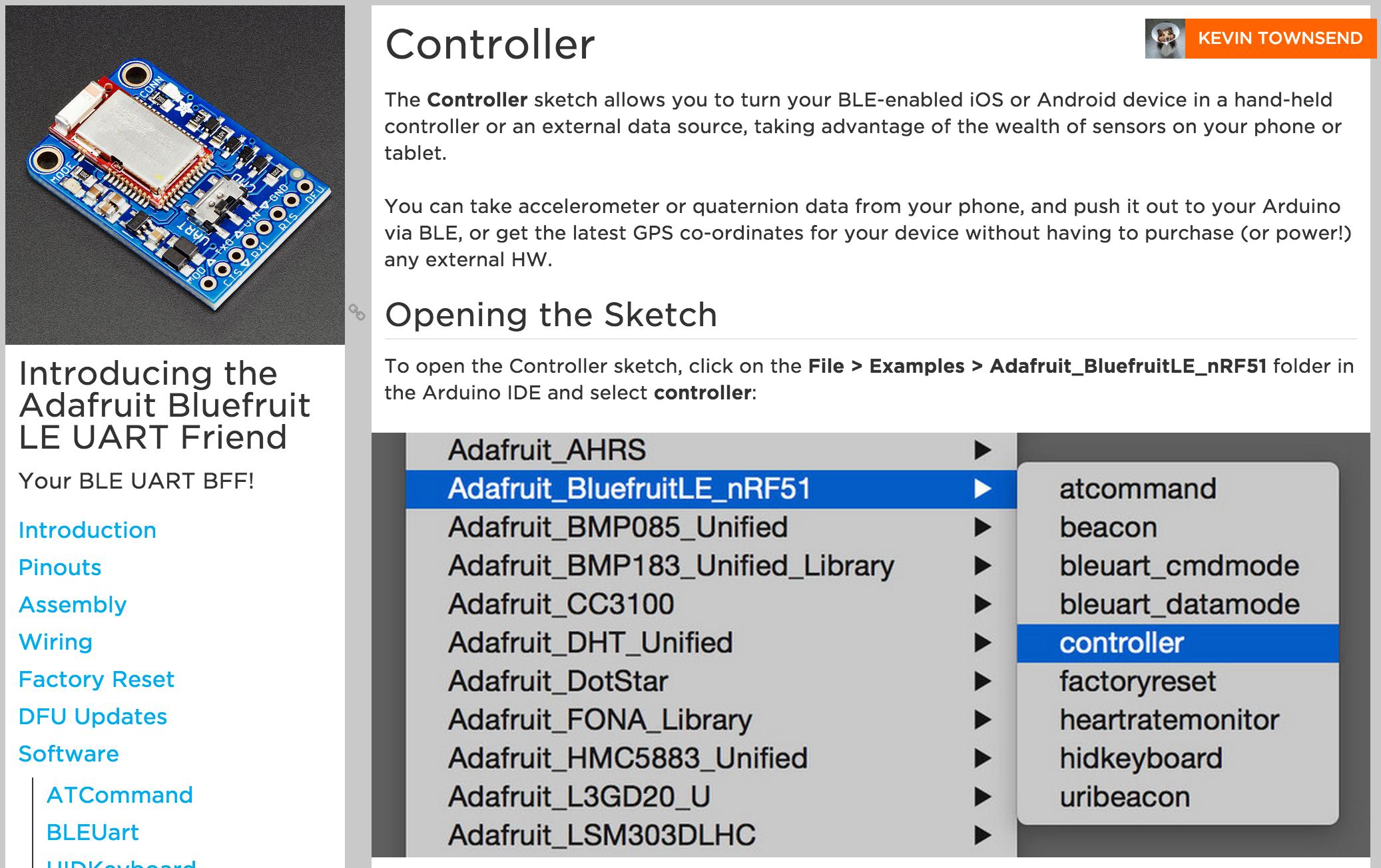 Bluefruit LE UART Friend Learning Guide « Adafruit Industries ...