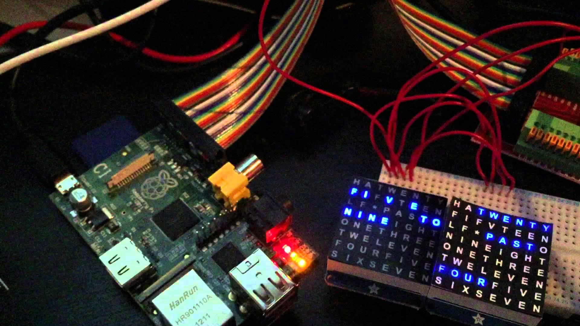 Awesome Word Clock Using Raspberry Pi & LED Matrix