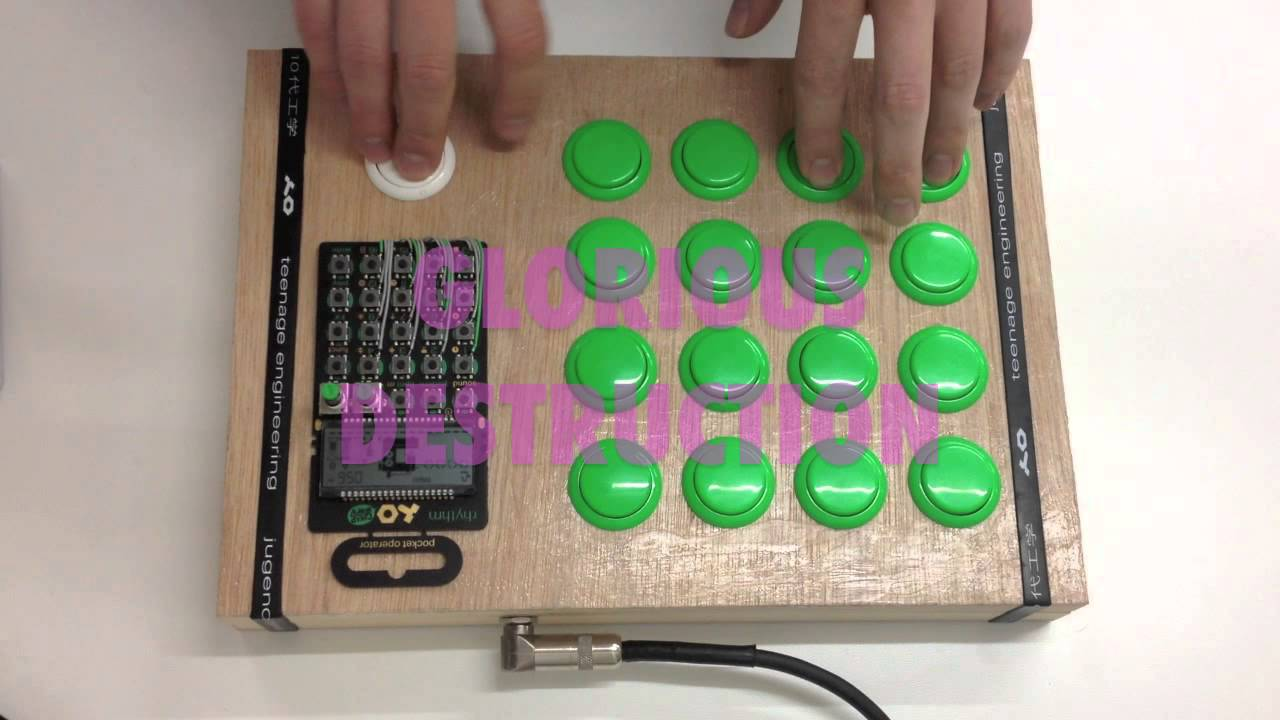 teenage engineering po12 drum machine hacked with big buttons musicmonday adafruit industries. Black Bedroom Furniture Sets. Home Design Ideas