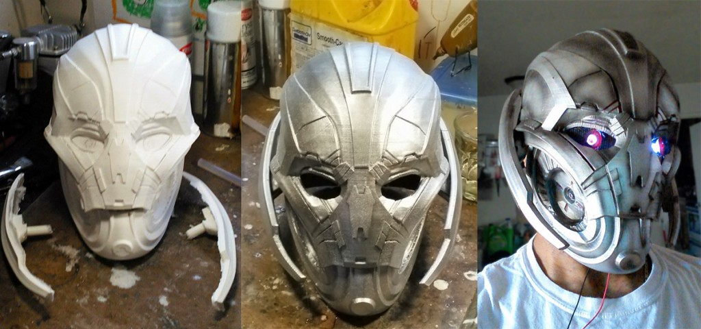 3d Printing Ultron Helmet 3dthursday 3dprinting