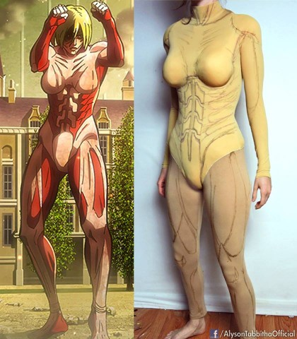 Female Titan cosplay 3
