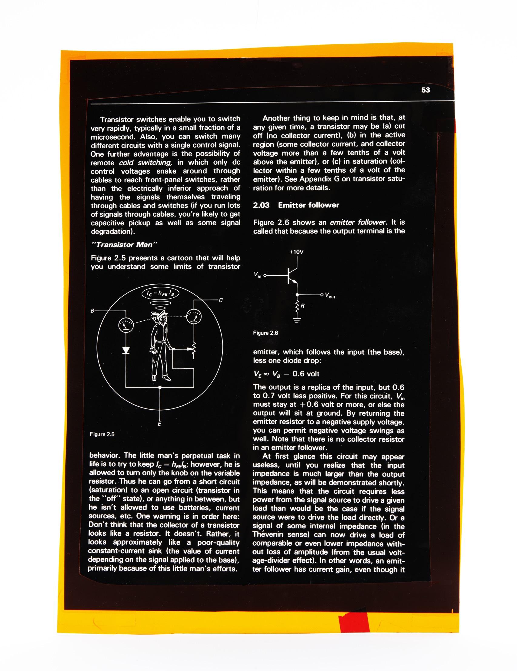 Horowitz Transistor Man Page Front Orig 009