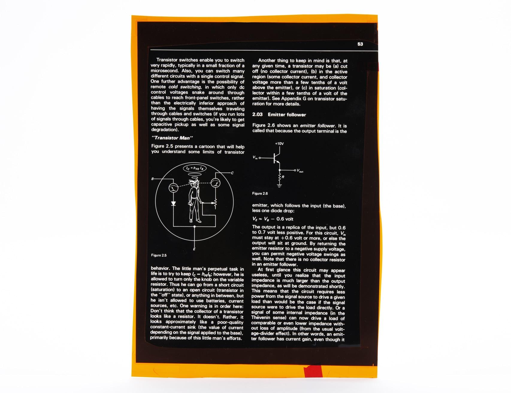 Horowitz Transistor Man Page Front Orig 010