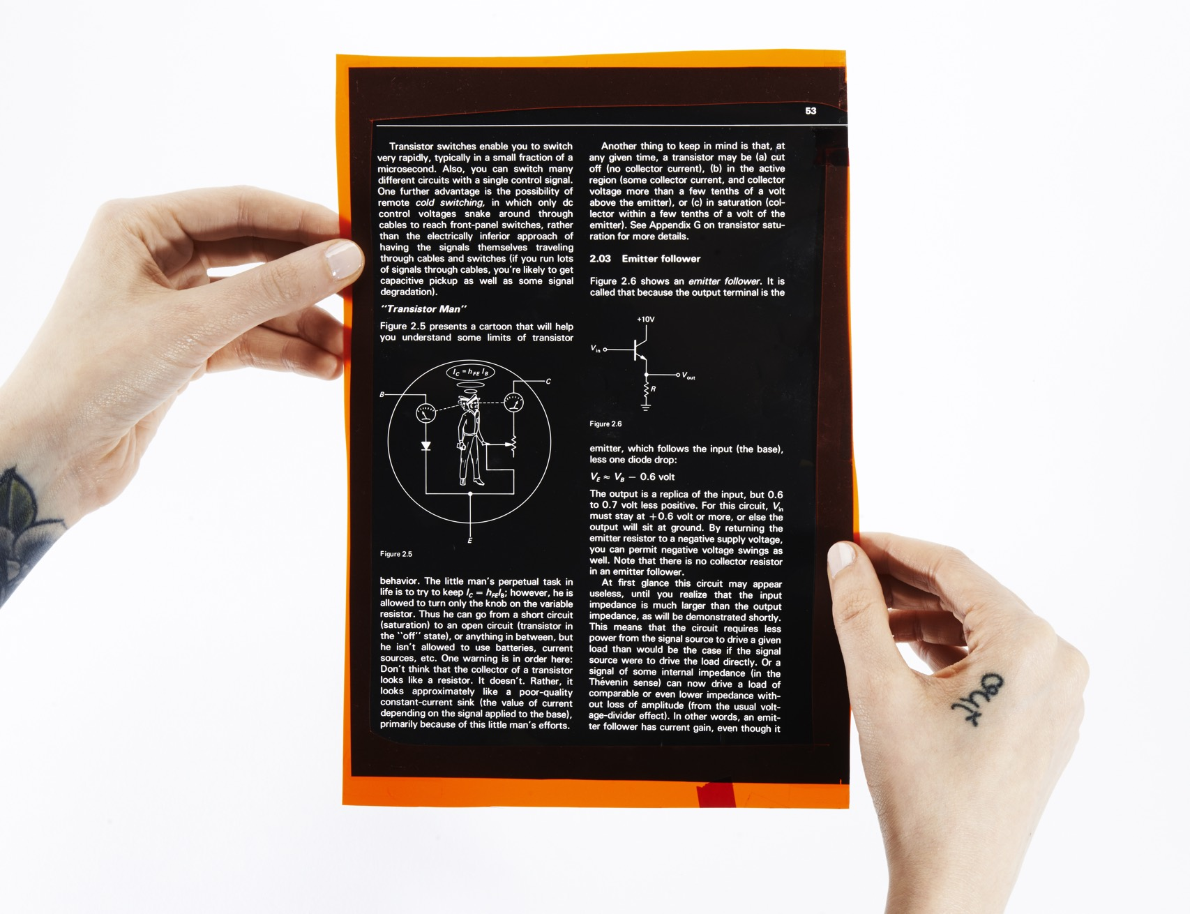 Horowitz Transistor Man Page Hand Demo Front Orig 021