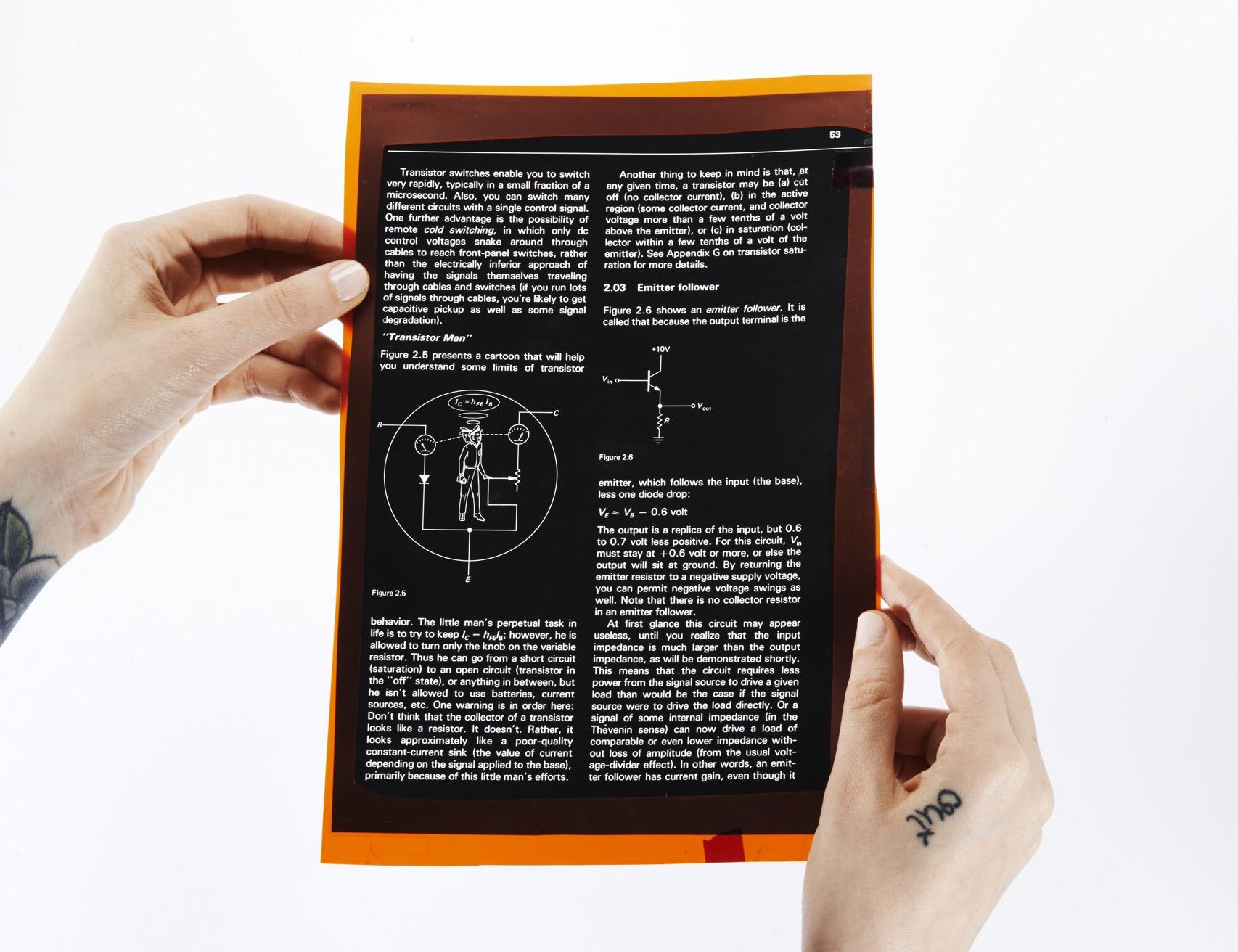 Horowitz Transistor Man Page Hand Demo Front Orig 024
