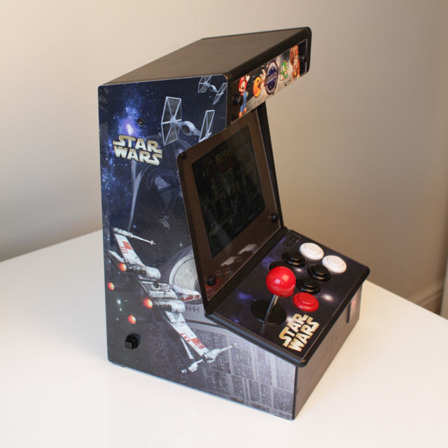 Retro bartop arcade with a customized icade and raspberry