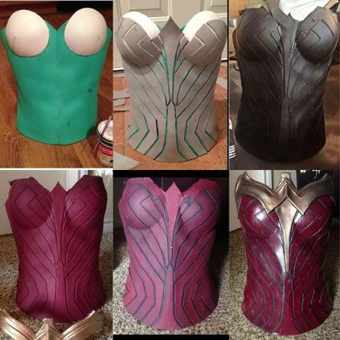 wonder woman foam corset