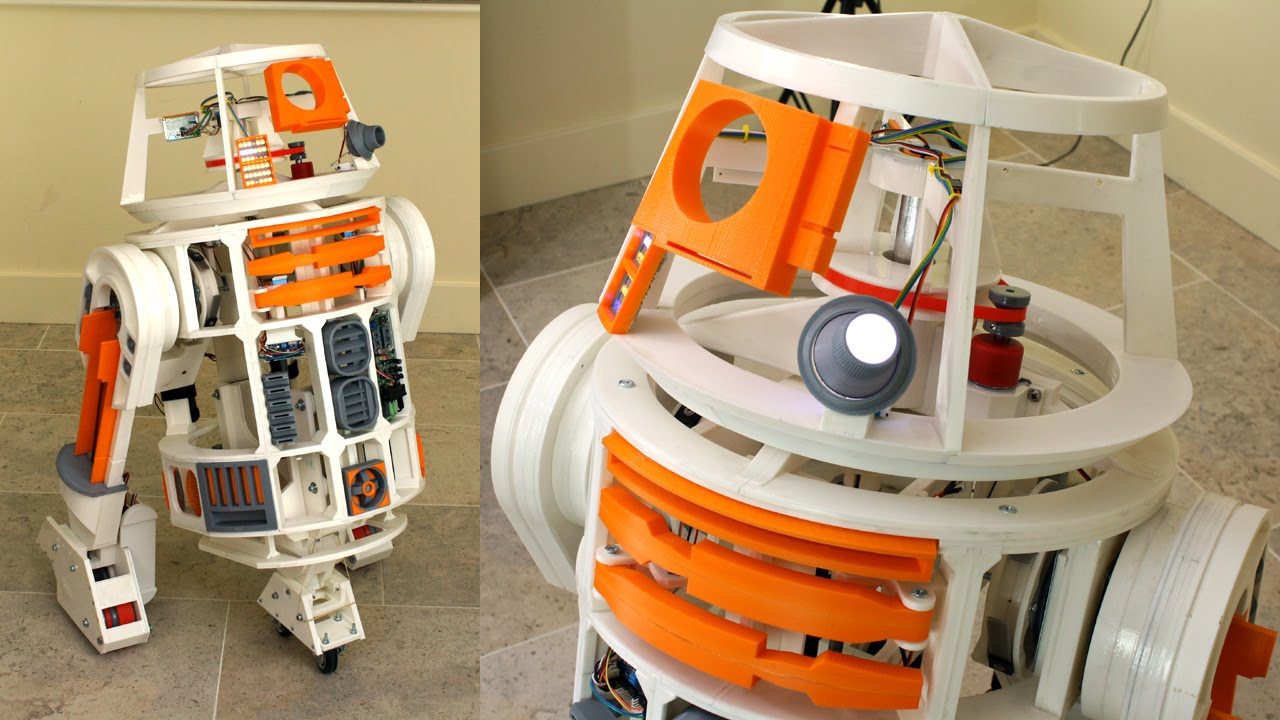 Xrobots dprinted star wars r droid multitasking with