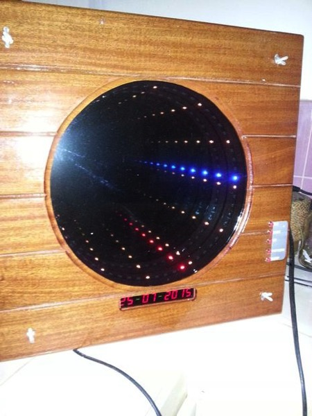 How to build an infinity mirror clock with patterns date