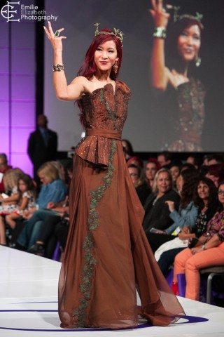 Guardians of the Galaxy-inspired gown by Emily Ong at the Her Universe Fashion Show