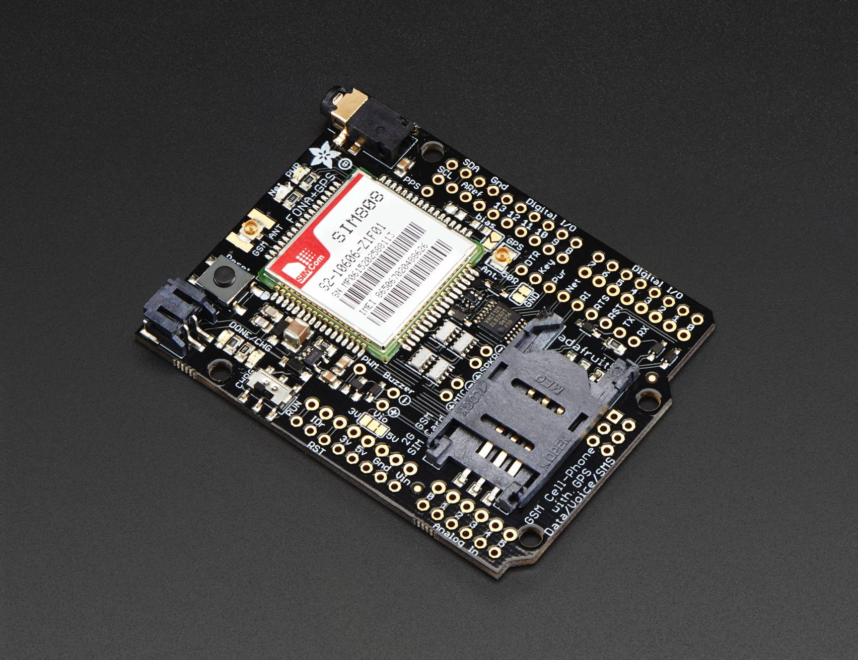 Adafruit Fona 808 Shield Mini Cellular Gsm Gps For Arduino Id Charger Wiring Diagram 2636 4995 Industries Unique Fun Diy Electronics And Kits