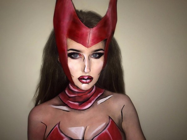 Scarlet Witch makeup