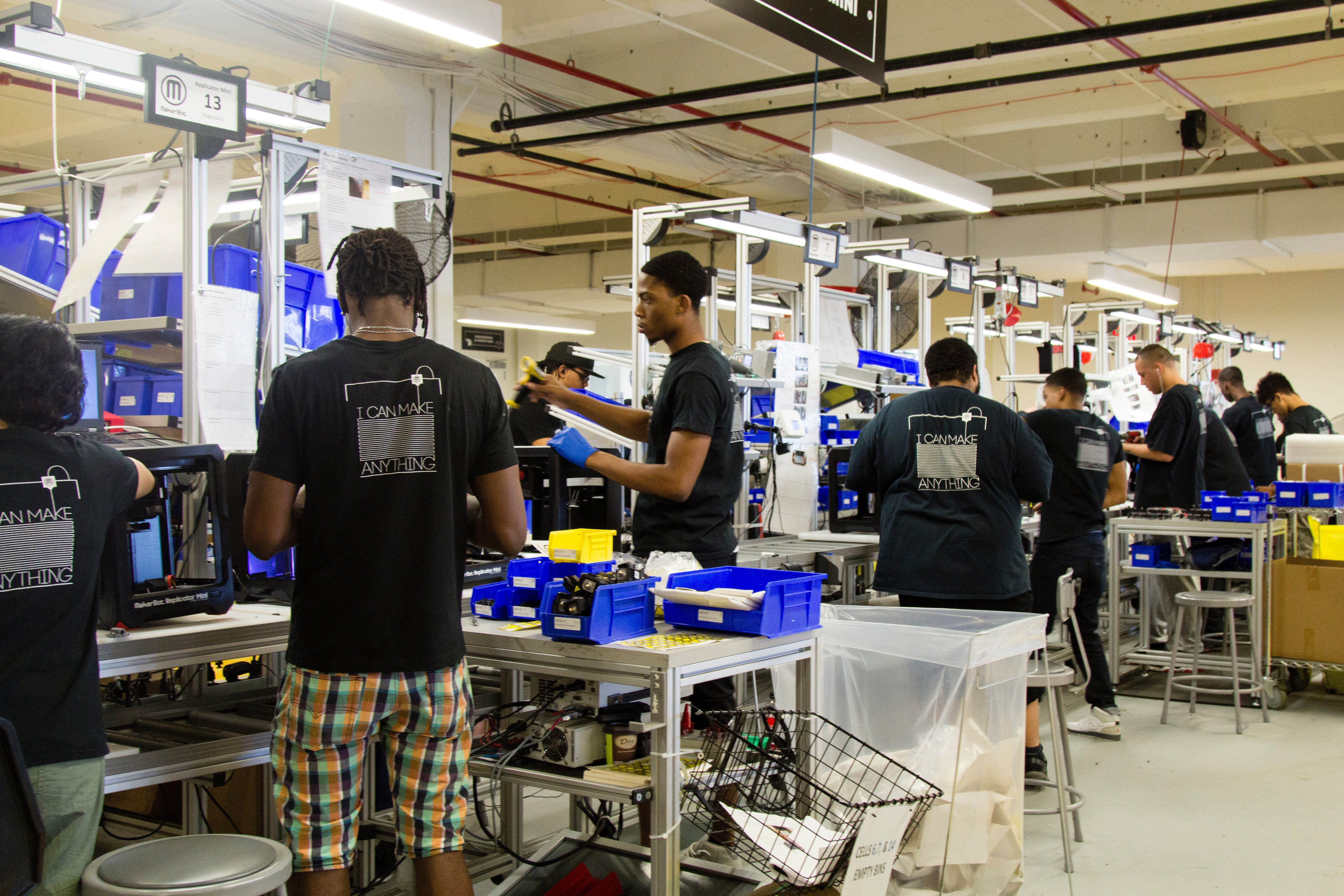 makerbot factory assembly line